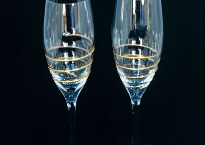 Champagne Flute with Golden Spiral