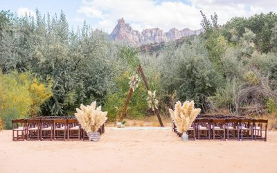 Zion Red Rock Oasis Wedding: Jessica and Drew (near Zion National Park)