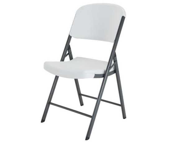 Granite White Folding Chair