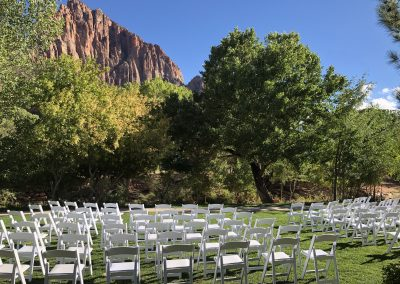 Chairs Zion Destination Wedding