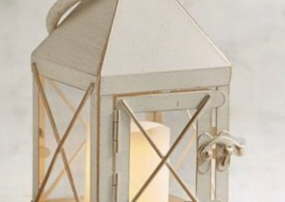 Small Metal Cream Lantern