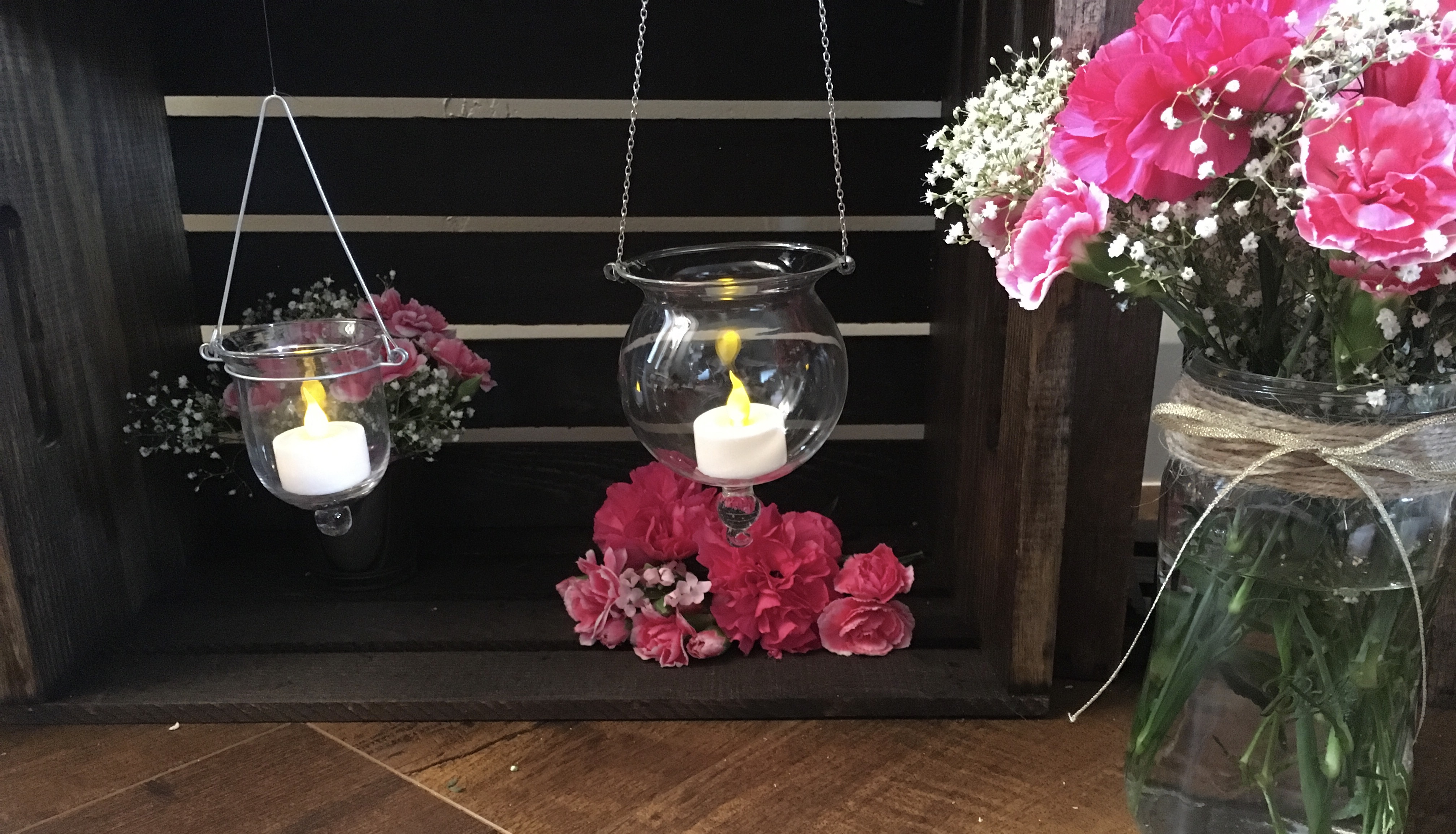 Hanging Glass Candle Holder