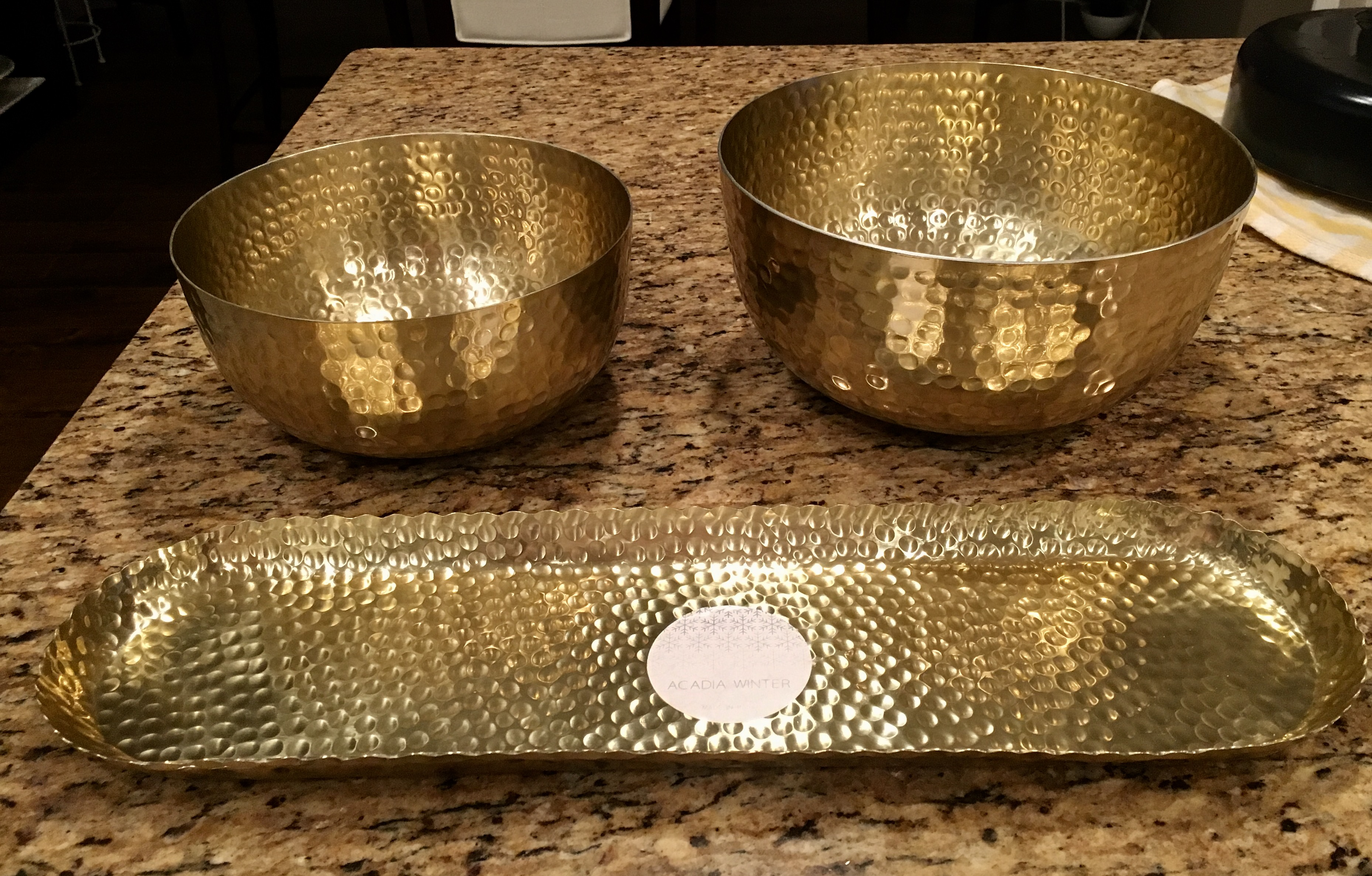 Gold Tray and Bowls