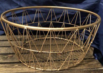 Round Gold Wire Basket