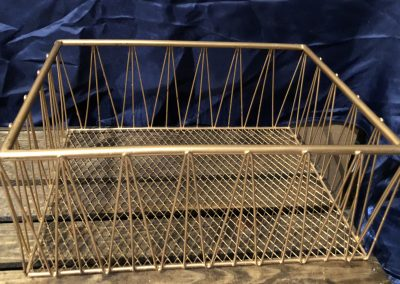 Square Gold Wire Basket