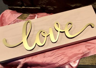 Golden Love Sign