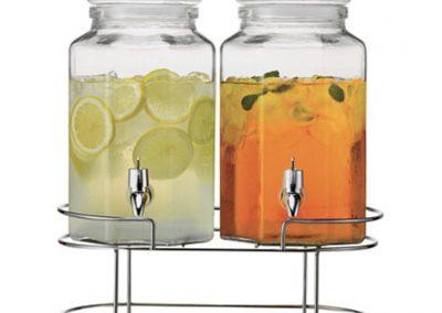 Duel Beverage Serving Jars