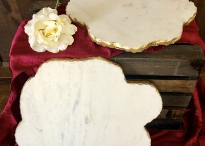 Marble Plater with Gold Edging