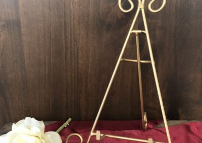 Gold Large Table Easel