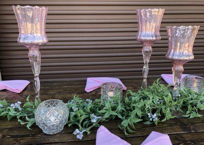 Dusty Rose Mercury Glass Goblet