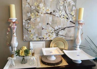White Porcelain Serving Trays