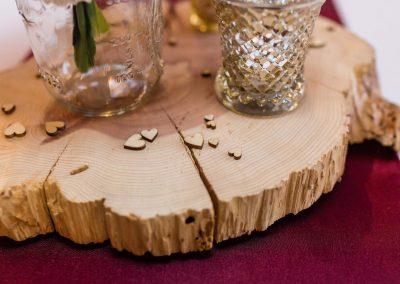 Cedar Wood Slab Centerpieces