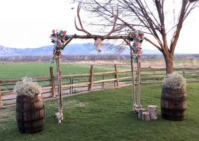 Aspen Arch with Barrels