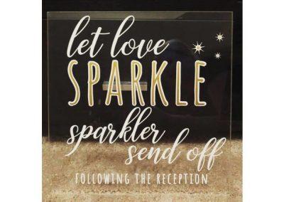 Love Sparkles Acrylic Sign