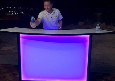 Portable Bar with lighing