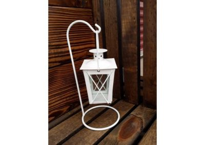 Small white hanging lantern