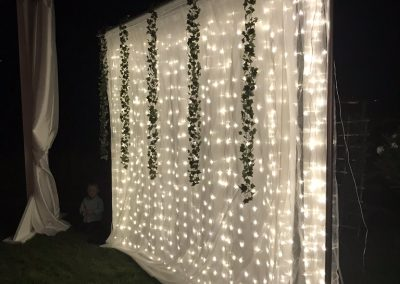 Drapery with lights backdrop