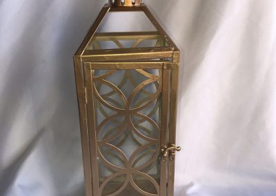 Large Metal Gold Lantern