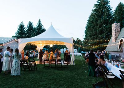 20'x20' tent over dance floor