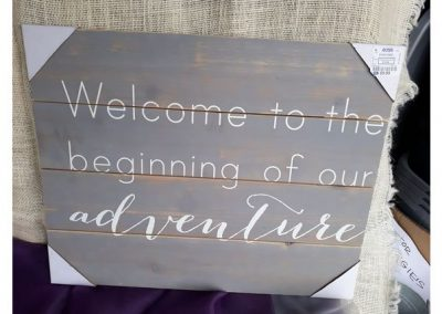 Welcome to the Beginning of our Adventure Sign