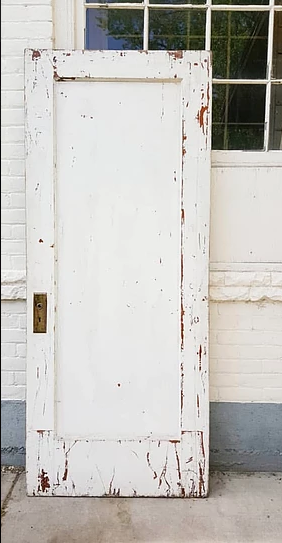 White Rustic Door