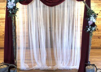 Burgundy Fabric & Curtains